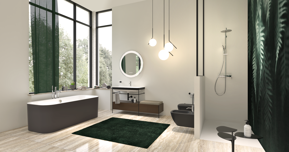 Bathroom rendering in DomuS3D